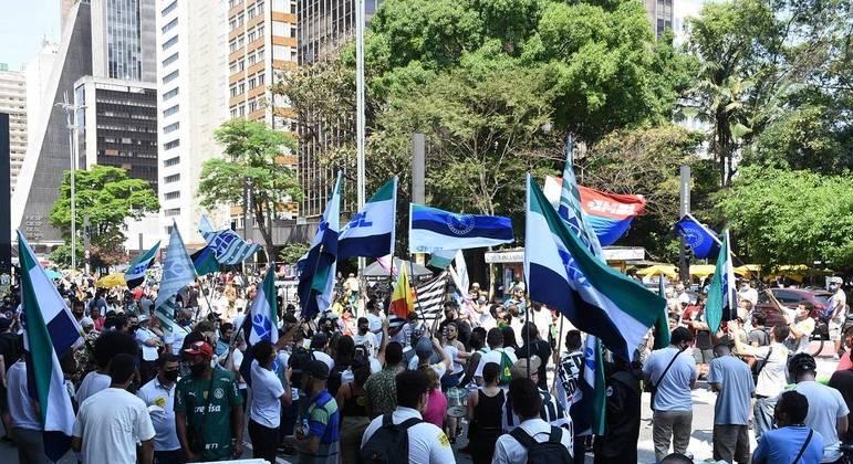 Atos contra Bolsonaro na Avenida Paulista