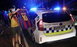 protesto, Messi, Barcelona,