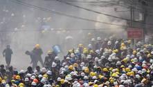 Vários manifestantes são baleados em protesto em Mianmar