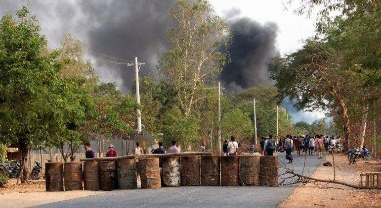 Manifestantes foram atacados pelas forças de segurança na sexta-feira