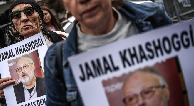 Protesto na Turquia pela morte do jornalista saudita Jamal Khashoggi