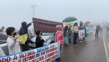 Mineradora é alvo de protesto de moradores no parque do Rola Moça