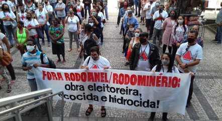 Grupos fizeram protesto contra projeto na ALMG