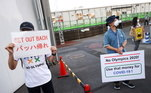 protesto Tóquio 2020,