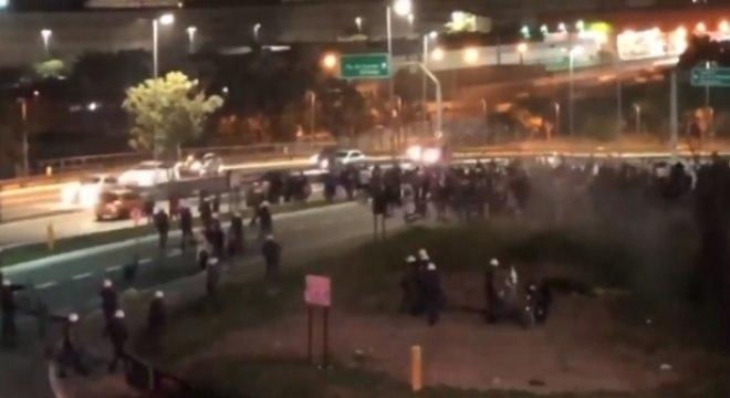 Torcedores protestaram após derrota para o Palmeiras