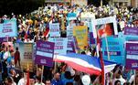 Milhares de pessoas se reuniram em Zagreb, capital da Croácia, em um ato contra o aborto