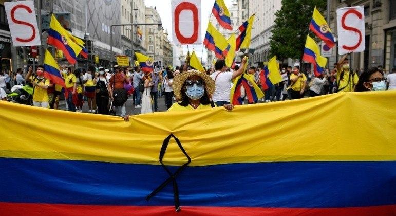 A reforma tributária foi estopim para as manifestações na Colômbia