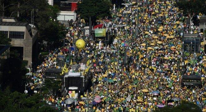 Protestos em apoio à Lava Jato e a Sergio Moro neste domingo em SP, organizadores dizem ter havido marchas em 185 cidades
