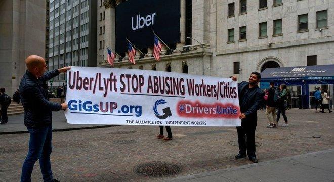 Motoristas já protestaram contra várias empresas de transporte compartilhado