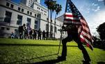 Além de Washington, também estão ocorrendo protestos em Los Angeles, em frente à prefeitura