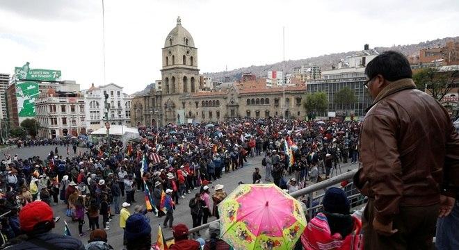 Protestos em La Paz após renúncia de Evo Morales