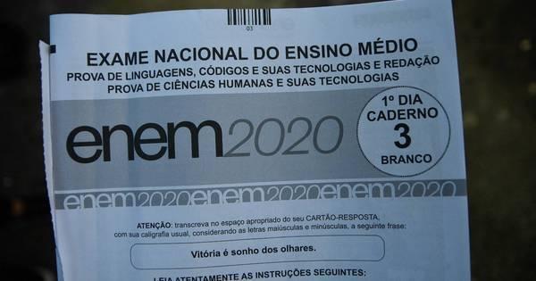 Gabarito oficial do Enem será divulgado nesta quarta-feira