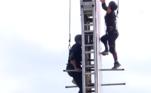 Li e JP deixaram o medo de altura de lado e também concluíram a atividade