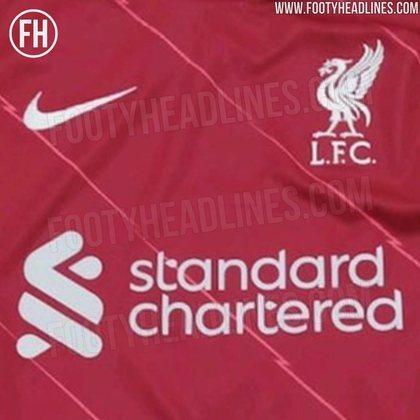 Próxima camisa 1 do Liverpool