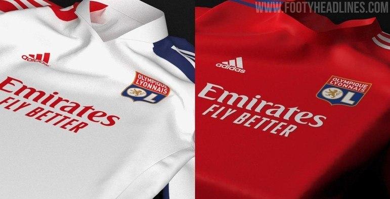 Próximas camisa 1 e camisa 2 do Lyon
