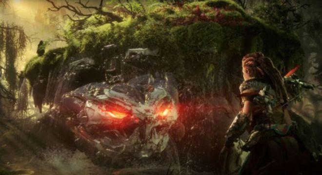 Em Horizon: Forbidden West, Aloy viaja para o oeste em uma versão futurista dos Estados Unidos