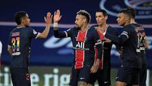 Com gol de Neymar, PSG goleia Reims e segue na luta pelo título