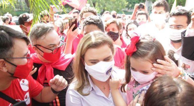 A candidata Marília Arraes (PT), que foi derrotada em Recife
