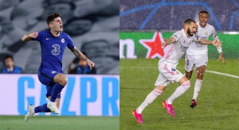 Pulisic, do City, e Benzema, do Real