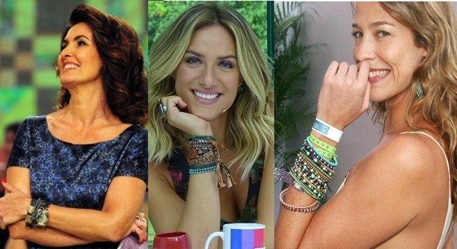 As famosas adoram essa tendência e sempre usam misturando vários tipos de pulseiras.