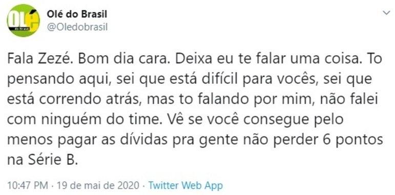 Punido pela Fifa devido ao não pagamento do empréstimo do volante Denilson, Cruzeiro não foi perdoado nas redes sociais