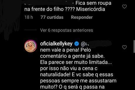 Kelly Key responde seguidor que a criticou