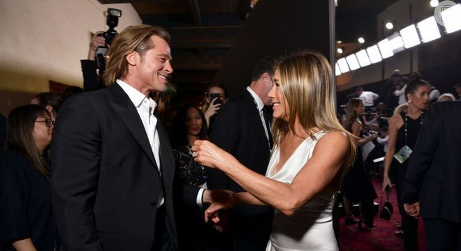Pitt e Jennifer já foram casados e se reencontraram na festa
