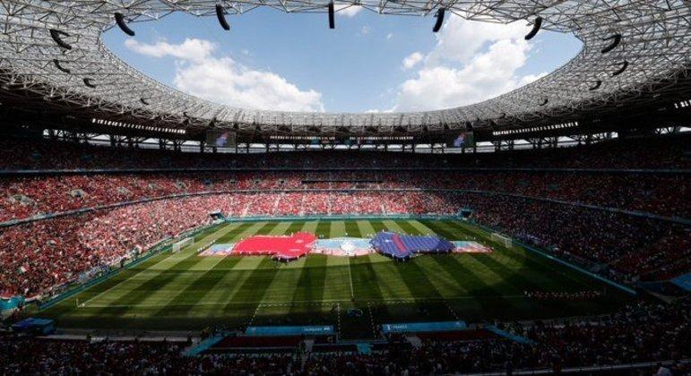 A Puskàs Arena de Budapest, na Hungria, o melhor público desta Euro2020