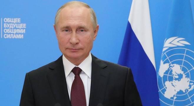 Putin fez discurso em vídeo durante a Assembleia-Geral das Nações Unidas