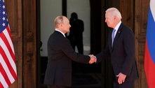 Cúpula Biden-Putin em Genebra começa com um aperto de mãos