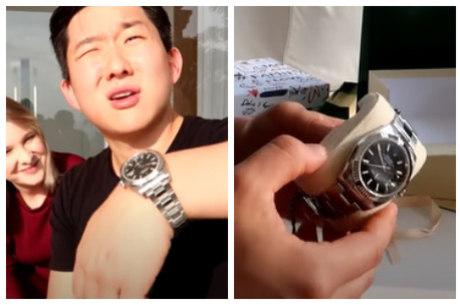 Pyong se surpreendeu ao ganhar relógio de grife