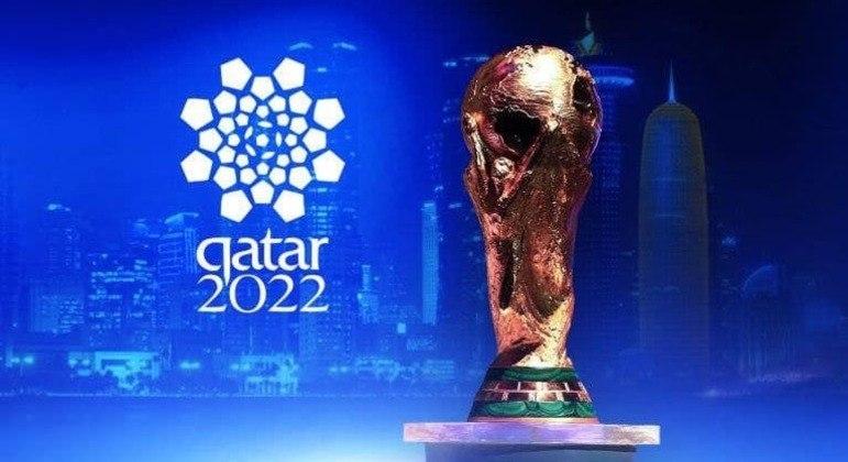 Um pôster da Copa do Qatar