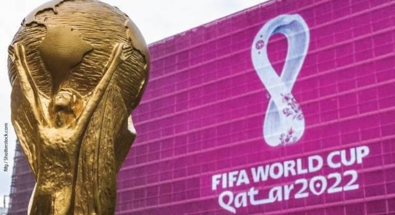 A Copa FIFA e o logo do Qatar/2022