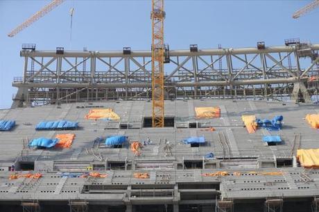 Estádio de Lusail é um dos que estão em obras