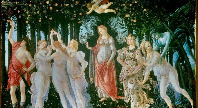A Primavera, de Sandro Botticelli, é um dos quadros mais famosos que se encontram na Galeria Uffizi, em Florença
