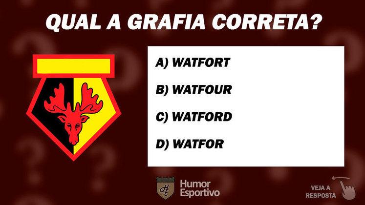 Qual das formas acima que se escreve o nome do time?