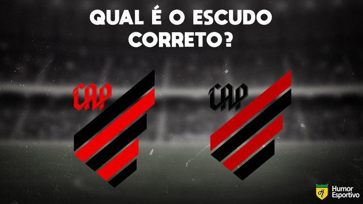 Qual desses é o escudo do Athletico Paranaense? Veja a resposta na próxima imagem!