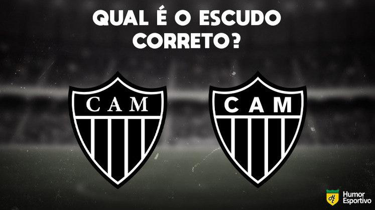 Qual desses é o escudo do Atlético-MG? Veja a resposta na próxima imagem!