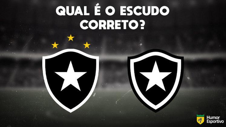 Qual desses é o escudo do Botafogo? Veja a resposta na próxima imagem!