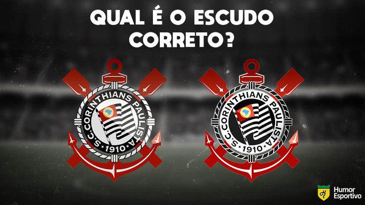 Qual desses é o escudo do Corinthians? Veja a resposta na próxima imagem!