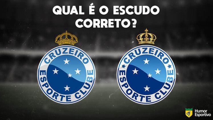 Qual desses é o escudo do Cruzeiro? Veja a resposta na próxima imagem!
