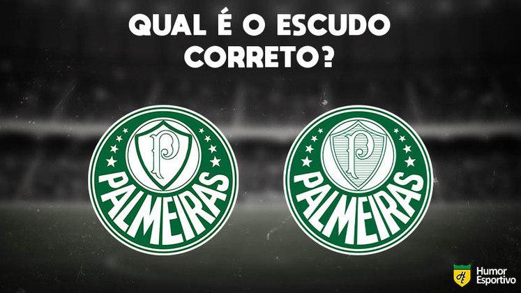 Qual desses é o escudo do Palmeiras? Veja a resposta na próxima imagem!