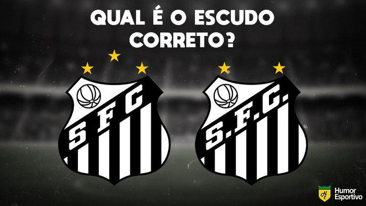 Qual desses é o escudo do Santos? Veja a resposta na próxima imagem!