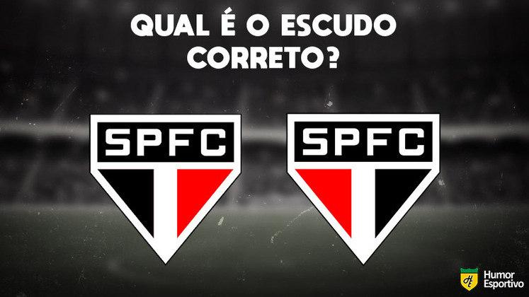 Qual desses é o escudo do São Paulo? Veja a resposta na próxima imagem!