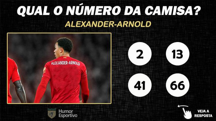 Qual o número da camisa de Alexander-Arnold no Liverpool?