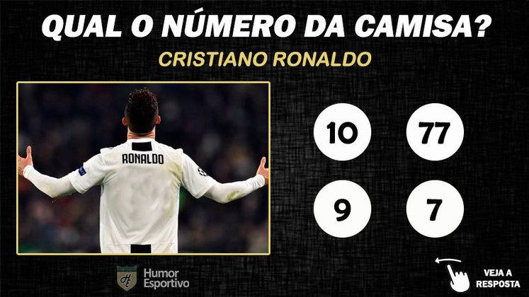 Qual o número da camisa de Cristiano Ronaldo na Juventus?