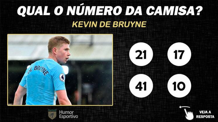 Qual o número da camisa de De Bruyne no Manchester City?