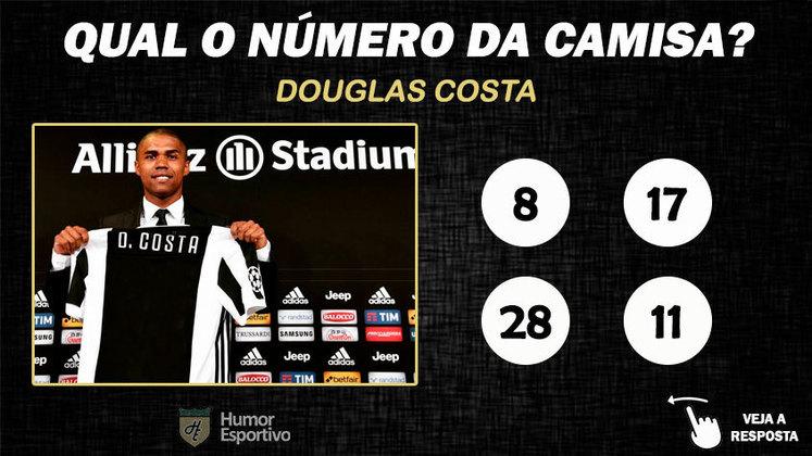 Qual o número da camisa de Douglas Costa na Juventus?
