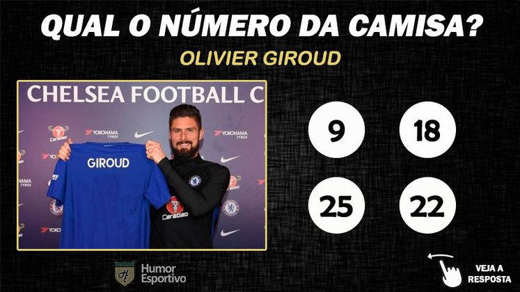 Qual o número da camisa de Giroud no Chelsea?