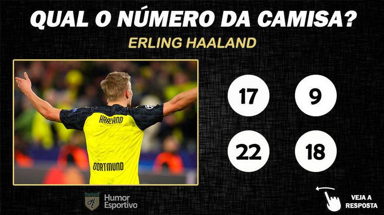Qual o número da camisa de Haaland no Borussia?